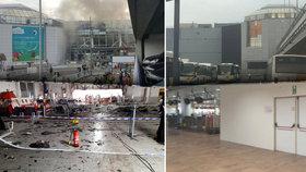 Letiště v Bruselu má po teroru stále zatlučená okna. A zavřený hlavní vchod