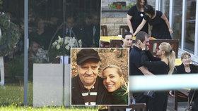 Pohřeb tatínka Dary Rolins: Dojemný vzkaz na věnci a ostražitá ochranka