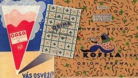 Retro obal Kofily a hvězda Orion: Výstava grafika Zdenka Rykra, na které vás bude honit mlsná