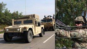 Americký konvoj přijel na Moravu. Pražané se s ním časně ráno loučili