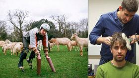 Brit si vyrobil protézy s kopyty a přidal se ke stádu: Žil jako koza!
