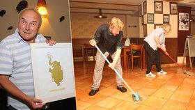 Narozeninovou párty Oldřicha Dudka (70) spláchla velká voda! Místo vína a šunky jen mop a kýbl!