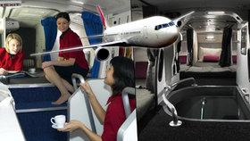 Tajemství letecké dopravy: Kde spí letušky a piloti? A co v odpočívárnách vyvádí?