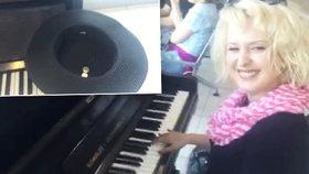 Vnadná Miluška Bittnerová: Hrála na letišti na piano a vybírala peníze!