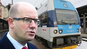Vlak na letiště v Praze pojede nejdřív v roce 2023, přiznal Sobotka