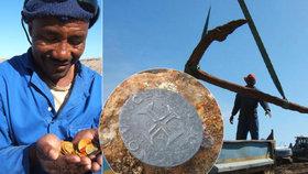 Vrak 500 let staré lodi v poušti: V jejích útrobách se našlo zlato za 315 milionů korun