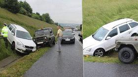 VIDEO: Seniorka jela po dálnici D5 deset kilometrů v protisměru: Nabourala vojáky a v klidu jela dál