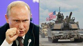 Putin prý válku nechce. Němci varují: Tanky USA u hranic Ruska situaci zhoršují