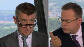 """Babiš se čertí: """"Moravec si na mně honí triko."""" Česká televize to odmítá"""