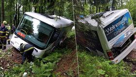 Chlapec na koloběžce vytlačil ze silnice autobus ve Špindlu: Pět lidí se zranilo