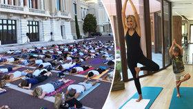 Jogínka Tereza Maxová: S masou lidí cvičí v ulicích Monaka!
