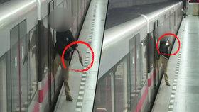 Střelba v pražském metru: Opilec vytáhl zbraň a pálil do cestujících