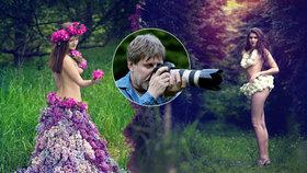 Takhle »šije« a fotí amatér ze Šternberka: Sexy šaty z listí a květů