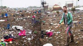 Bordel po Glastonbury: Festivaloví návštěvníci po sobě zanechali půl milionu pytlů s odpadky