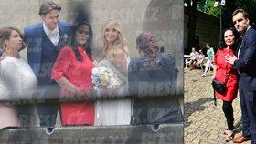Svatební rodinné foto Kuchařové s Brzobohatým: Milenec na něm nesměl být!