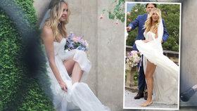 Nevěsta Kuchařová si utírala špinavé nohy do svatebních šatů! Až tohle uvidí návrhářka, tak ji klepne