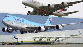 Na letiště vtrhnul kolos: Po Antonovi, Airbusu A380 přistál v Praze i Boeing 747-8i