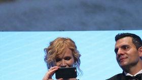 Hvězda 50 odstínů šedi Jamie Dornan děkoval, Aňa Geislerová tasila mobil a vše si točila!