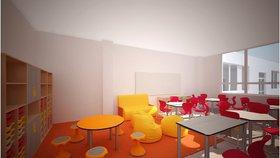 Přestavba školy na Zbraslavi: Bude plná barev, rostou tu i nové místnosti a tělocvična