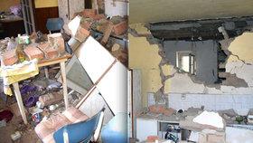 Výbuch jim zničil kuchyni i dům. Na Berounsku ze sutin vytáhli dva zraněné