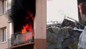 Zdravotní sestře Marii (60) vyhořel byt, přišla o všechny věci