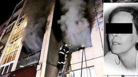Matka vyskočila před požárem z balkonu: Syn se díval, jak z ní odpadává kůže