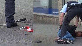 Těhotnou ženu rozsekal syrský migrant mačetou: Zastavil ho hrdina, který ho srazil autem