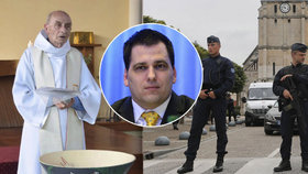 """""""Hnusný čin psychopatů."""" Zdechovský: Evropa musí na podříznutí kněze odpovědět"""
