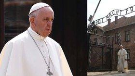 Papež se v Osvětimi pomodlil v cele smrti. František navštívil vyhlazovací tábor