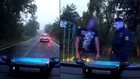 Bizarní honička: Řidič ujížděl policistům v jedna dvojce