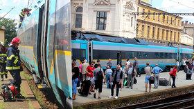 V Plzni na nádraží začalo hořet pendolino: Evakuováno muselo být na dvě sta cestujících!