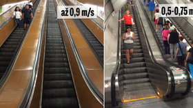 Proč některé eskalátory v metru jezdí rychleji než jiné? Odhalili jsme záhadu