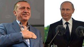 """Erdogan jede k """"příteli"""" Putinovi: Chce urovnat spory s Ruskem"""