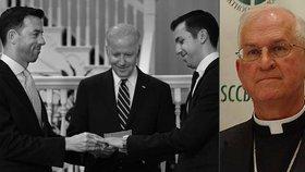 Obamova pravá ruka vytočila církev. Biden oddal gay pár a biskupové zuří