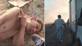 Bezcitné video: Reportérka dělala rozhovor s umírajícím mužem! Místo pomoci…