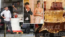Den po miliardářské ruské svatbě v Praze: Torzo obřího dortu a armáda uklízečů!