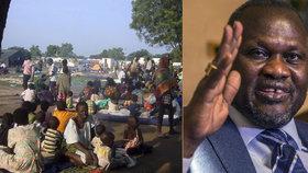 Viceprezident uprchlík: Nejdřív se schovával v džungli, pak prchnul ze země