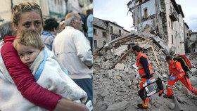 Zemětřesení v Itálii: Po mnoha hodinách vyprostili osmiletou holčičku