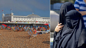 """Tohle není Francie: """"Armáda"""" žen v burkinách na britské pláže smí"""
