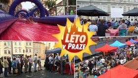 Konec léta v Praze. Akce, kde nebude nuda: Obří skluzavka a kino na Malostranském náměstí