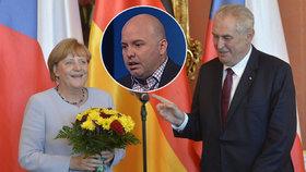 """Zeman šil do Merkelové. Politolog: """"Zvládneme to"""" je lepší, než """"jsme v háji"""""""