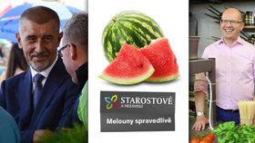 """Sobotka v kuchyni, melouny i jaderná baba: Strany začaly """"lanařit"""" voliče"""