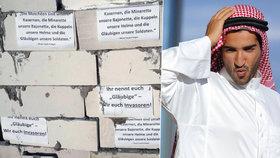 Německá policie vyšetřuje vandaly: Muslimům zazdili vstup do mešity