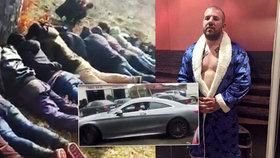 Lovec migrantů má armádu fanoušků: Kupuje si auta za miliony, ISIS mu slibuje smrt!