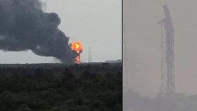 SpaceX na oběžnou dráhu nepoletí: Raketa Falcon explodovala při testu