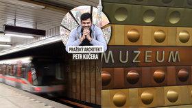 Pražský architekt o metru: »Déčko« nemá nápad ani koncepci! Staré stanice jsou vysoko nad ním!