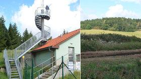 Podivná rozhledna na Třebíčsku: Nikam z ní nedohlédnete
