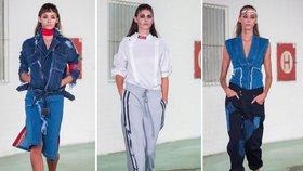 Přehlídka Chatty: Modelky umouněné od popela, trčící nitě a spousta denimu!