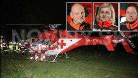 Záchranářský vrtulník se zřítil v horách: Zahynuli čtyři lidé včetně pacienta