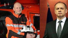 Havárie na Slovensku: Vrtulník pilotoval příbuzný prezidenta Kisky